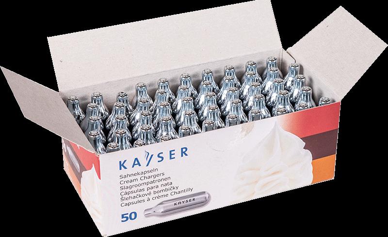 Capsule di panna montata Kayser